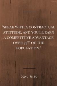 Contractual Attitude