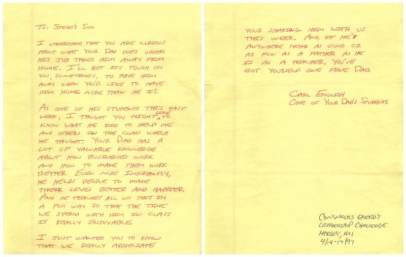 Carl English Note