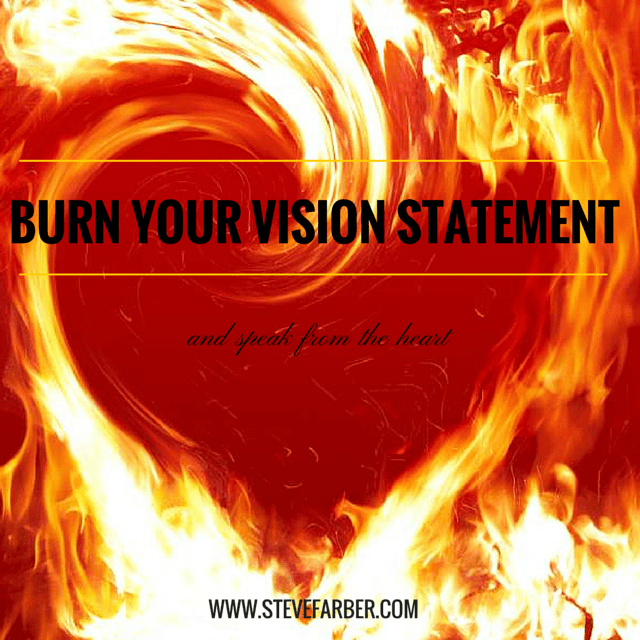 Burn Your Vision Statement Website