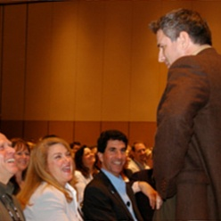 Steve Farber at a motivational speaker conference