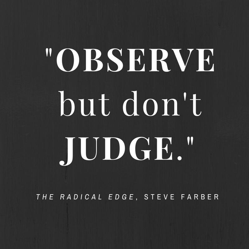 observe-dont-judge